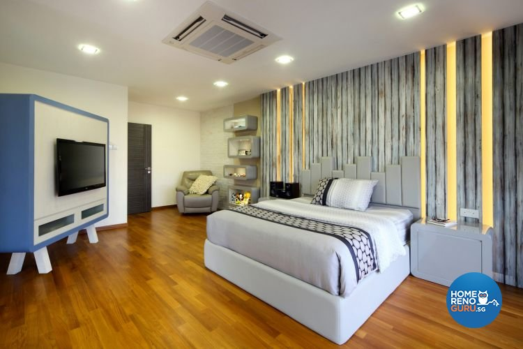 Contemporary, Modern Design - Bedroom - Landed House - Design by De Exclusive Interior Group Pte Ltd