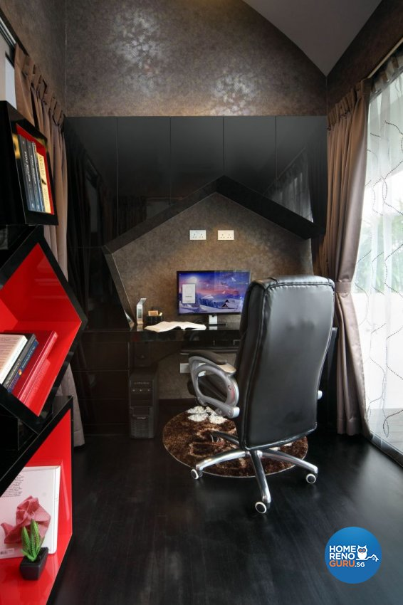 Contemporary, Modern Design - Study Room - Condominium - Design by De Exclusive Interior Group Pte Ltd
