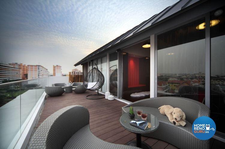 Contemporary, Modern Design - Balcony - Condominium - Design by De Exclusive Interior Group Pte Ltd