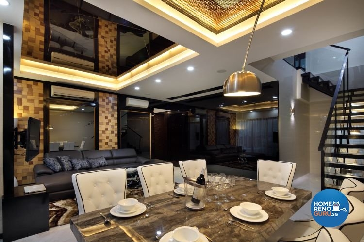 Contemporary, Modern Design - Dining Room - Condominium - Design by De Exclusive Interior Group Pte Ltd