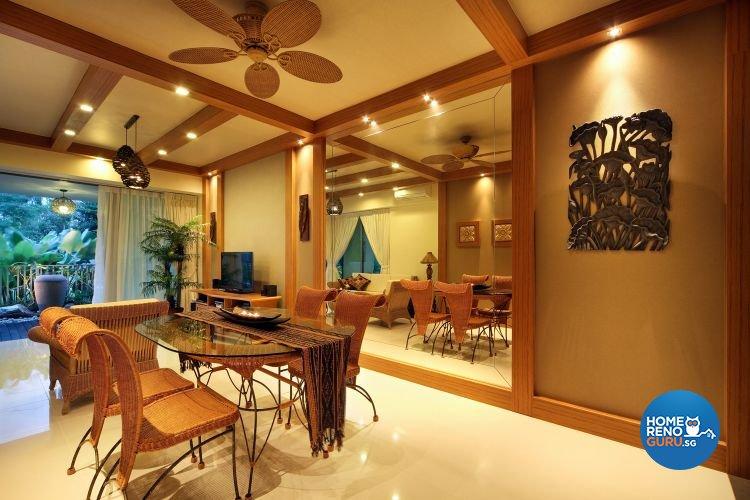 Modern, Tropical Design - Dining Room - Condominium - Design by De Exclusive Interior Group Pte Ltd