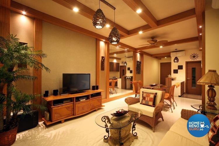 Modern, Tropical Design - Living Room - Condominium - Design by De Exclusive Interior Group Pte Ltd