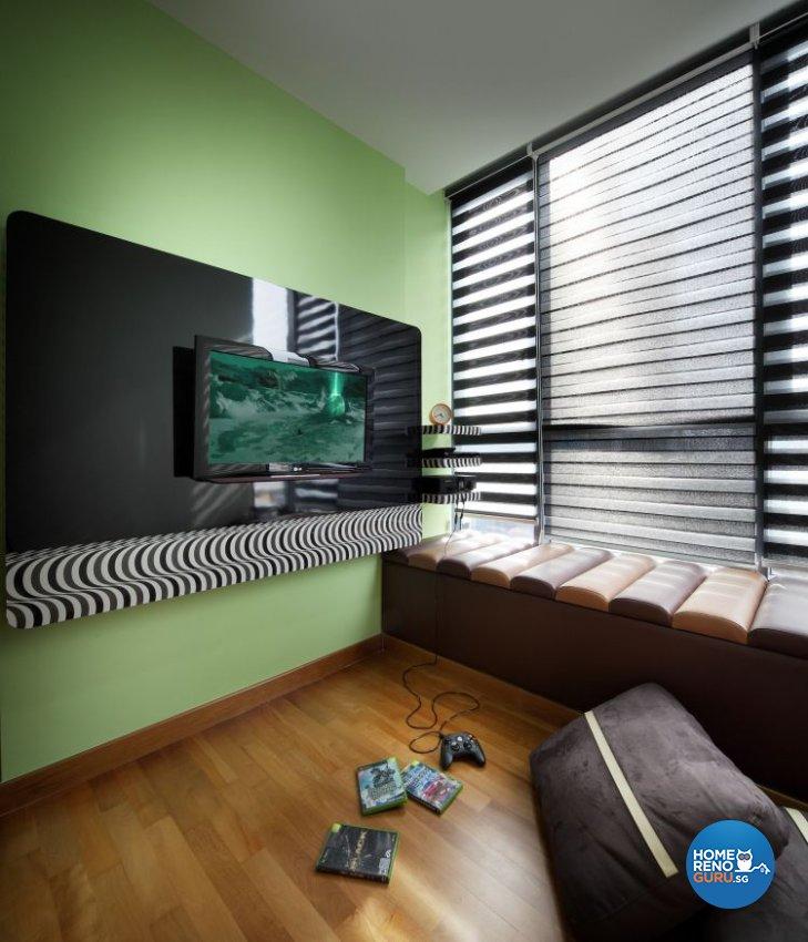 Contemporary, Retro Design - Entertainment Room - Condominium - Design by De Exclusive Interior Group Pte Ltd