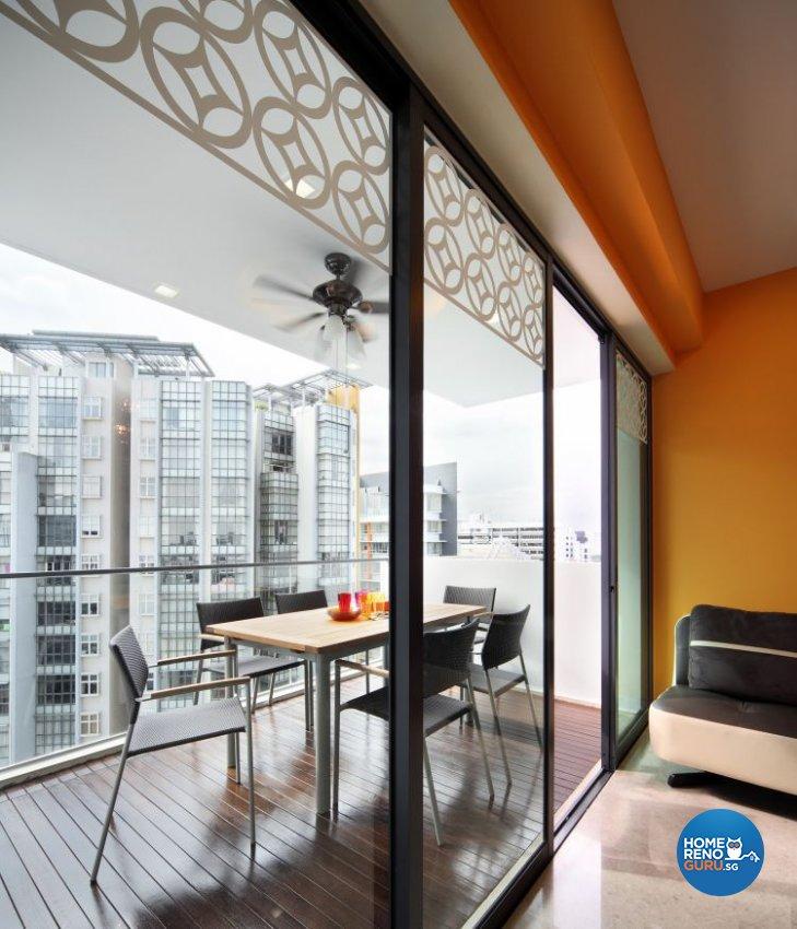 Contemporary, Retro Design - Balcony - Condominium - Design by De Exclusive Interior Group Pte Ltd