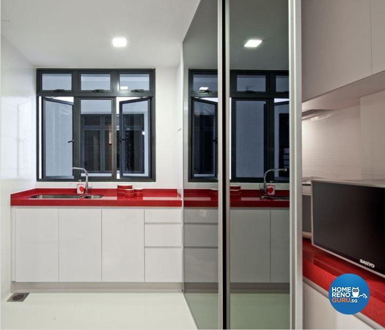 Minimalist, Modern Design - Kitchen - Condominium - Design by De Exclusive Interior Group Pte Ltd