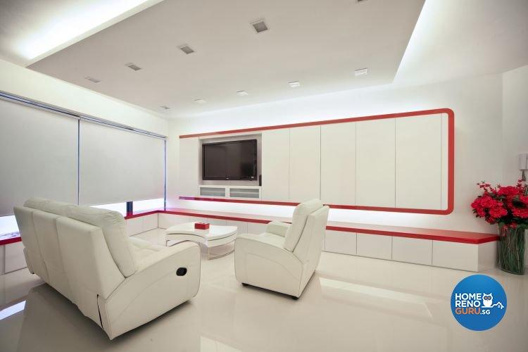 Minimalist, Modern Design - Living Room - Condominium - Design by De Exclusive Interior Group Pte Ltd