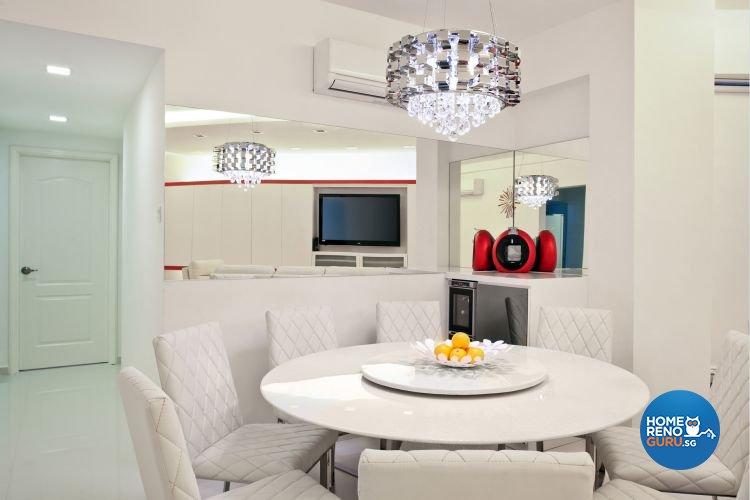 Minimalist, Modern Design - Dining Room - Condominium - Design by De Exclusive Interior Group Pte Ltd