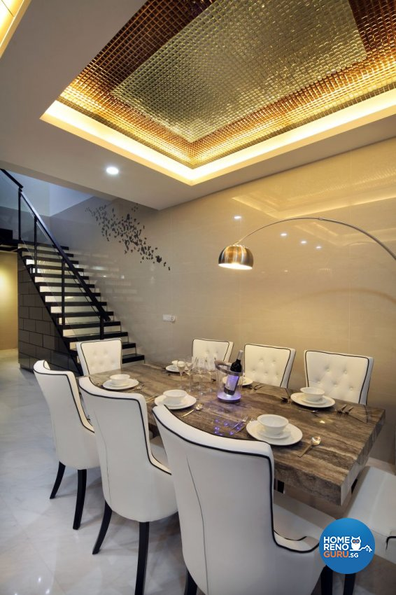Contemporary, Modern, Victorian Design - Dining Room - Condominium - Design by De Exclusive Interior Group Pte Ltd