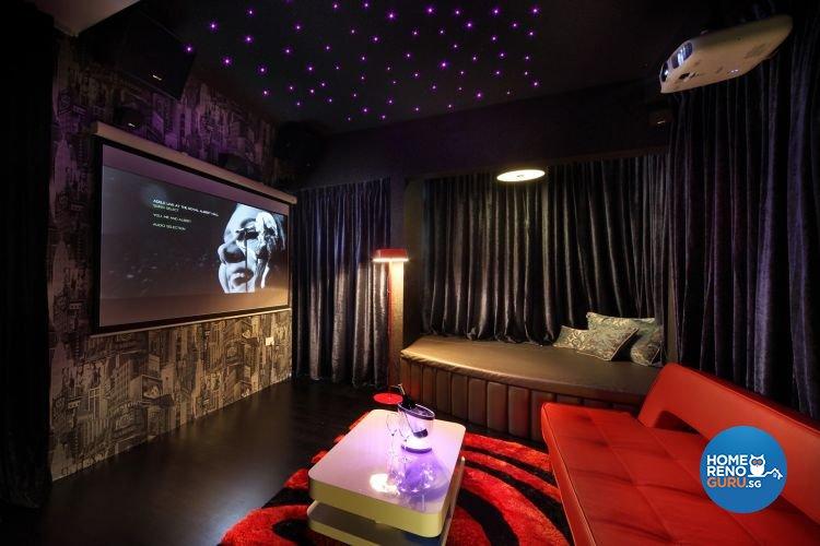 Contemporary, Modern, Victorian Design - Entertainment Room - Condominium - Design by De Exclusive Interior Group Pte Ltd
