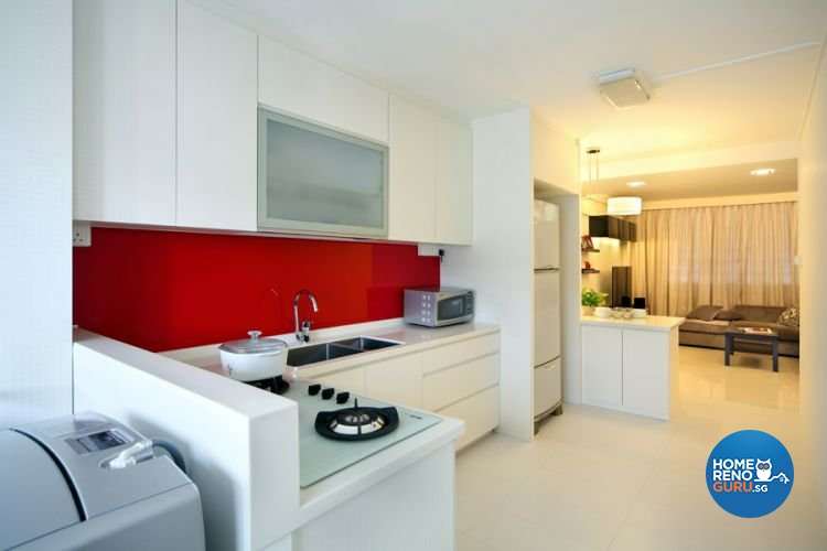 Contemporary, Modern Design - Kitchen - HDB 4 Room - Design by De Exclusive Interior Group Pte Ltd
