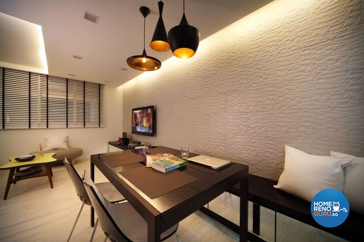 Contemporary, Modern Design - Dining Room - HDB 4 Room - Design by De Exclusive Interior Group Pte Ltd