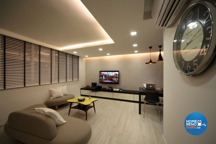 Contemporary, Modern Design - Living Room - HDB 4 Room - Design by De Exclusive Interior Group Pte Ltd