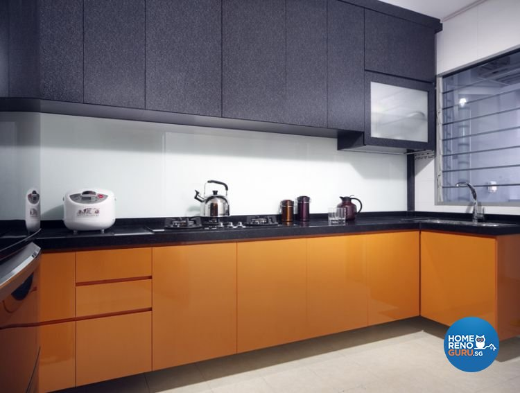 Contemporary, Retro Design - Kitchen - HDB 4 Room - Design by De Exclusive Interior Group Pte Ltd