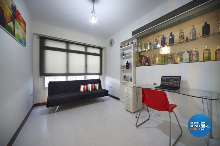 Contemporary, Retro Design - Study Room - HDB 4 Room - Design by De Exclusive Interior Group Pte Ltd