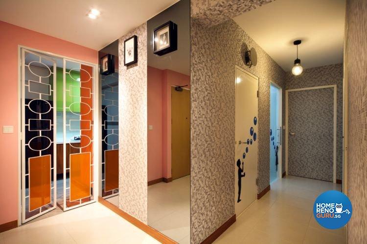 Contemporary, Retro Design - Kitchen - HDB 4 Room - Design by De Exclusive Interior Group Pte Ltd