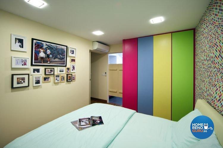 Contemporary, Retro Design - Bedroom - HDB 4 Room - Design by De Exclusive Interior Group Pte Ltd