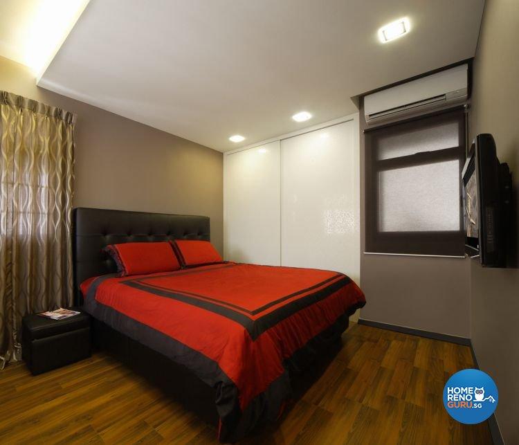 Contemporary, Modern Design - Bedroom - HDB 4 Room - Design by De Exclusive Interior Group Pte Ltd