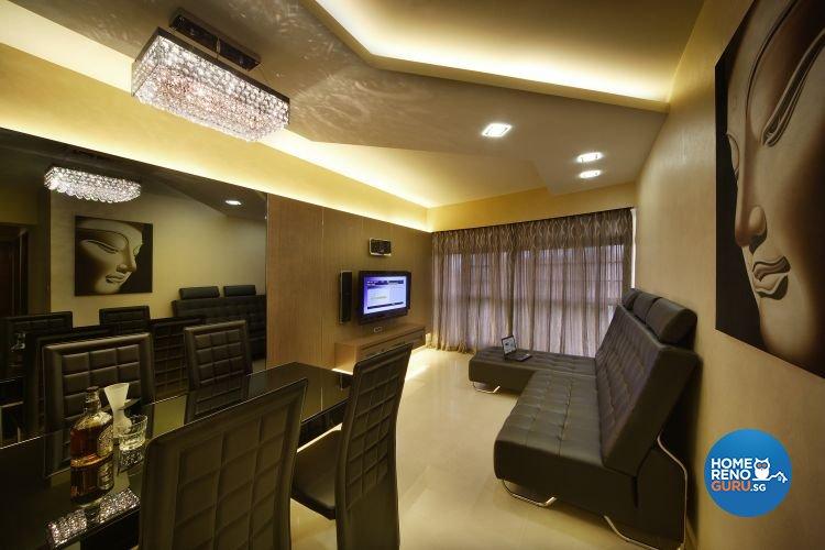 Contemporary, Modern Design - Living Room - HDB 4 Room - Design by De Exclusive Interior Group Pte Ltd