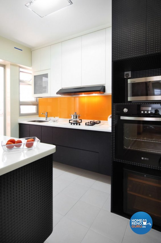 Minimalist, Retro Design - Kitchen - HDB 4 Room - Design by De Exclusive Interior Group Pte Ltd