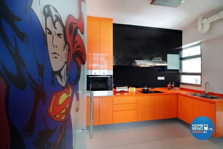 Retro, Scandinavian Design - Kitchen - HDB 4 Room - Design by De Exclusive Interior Group Pte Ltd