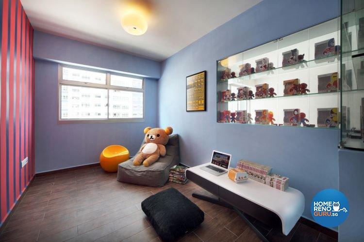 Retro, Scandinavian Design - Study Room - HDB 4 Room - Design by De Exclusive Interior Group Pte Ltd