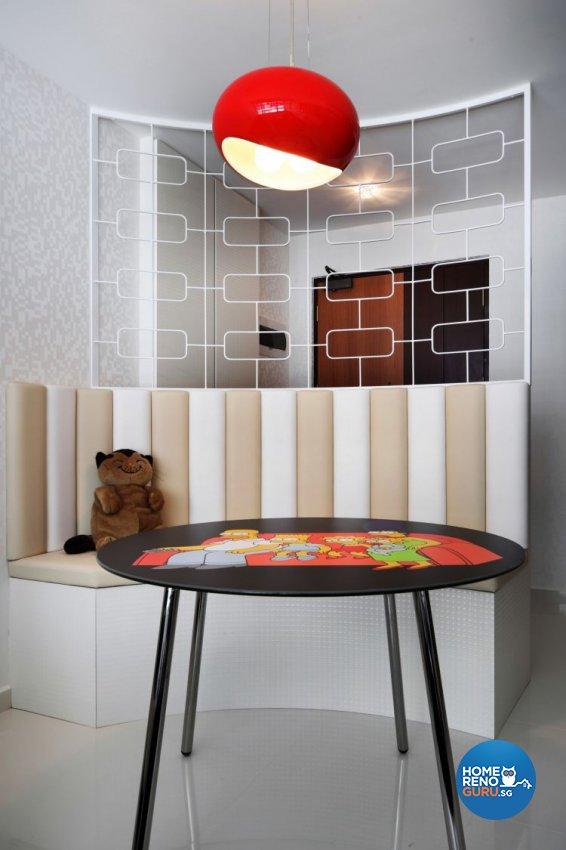 Retro, Scandinavian Design - Dining Room - HDB 4 Room - Design by De Exclusive Interior Group Pte Ltd