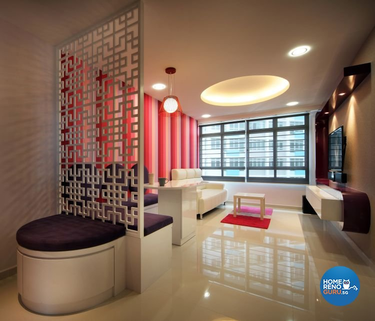 Minimalist, Retro Design - Dining Room - HDB 4 Room - Design by De Exclusive Interior Group Pte Ltd
