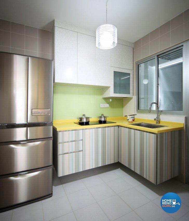 hdb 4 room kitchen design. Minimalist  Retro Design Kitchen HDB 4 Room by De Exclusive Interior Singapore Gallery Details HomeRenoGuru