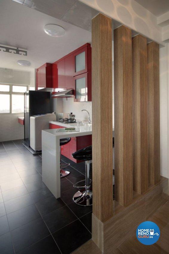 Contemporary, Modern Design - Kitchen - HDB 4 Room - Design by De Exclusive Interior Group Pte Ltd