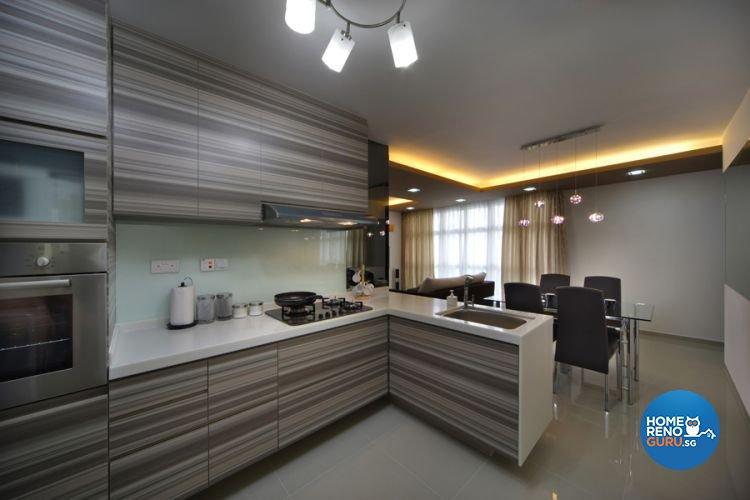 Contemporary, Modern Design   Kitchen   HDB 4 Room   Design By De Exclusive  Interior
