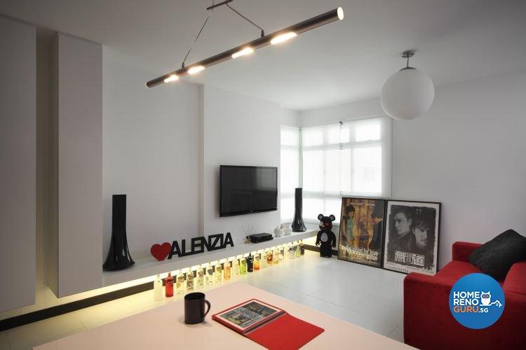 Minimalist, Modern Design - Living Room - HDB 4 Room - Design by De Exclusive Interior Group Pte Ltd