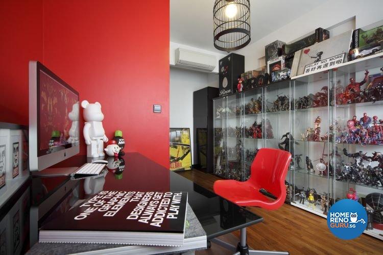 Minimalist, Modern Design - Study Room - HDB 4 Room - Design by De Exclusive Interior Group Pte Ltd