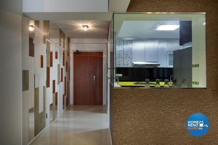 Minimalist, Retro Design - Kitchen - HDB 4 Room - Design by De Exclusive Interior Group Pte Ltd