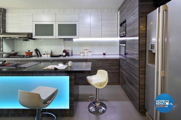 Modern Design - Kitchen - HDB 4 Room - Design by De Exclusive Interior Group Pte Ltd