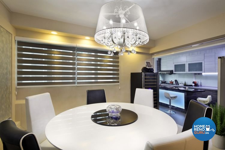 Modern Design - Dining Room - HDB 4 Room - Design by De Exclusive Interior Group Pte Ltd
