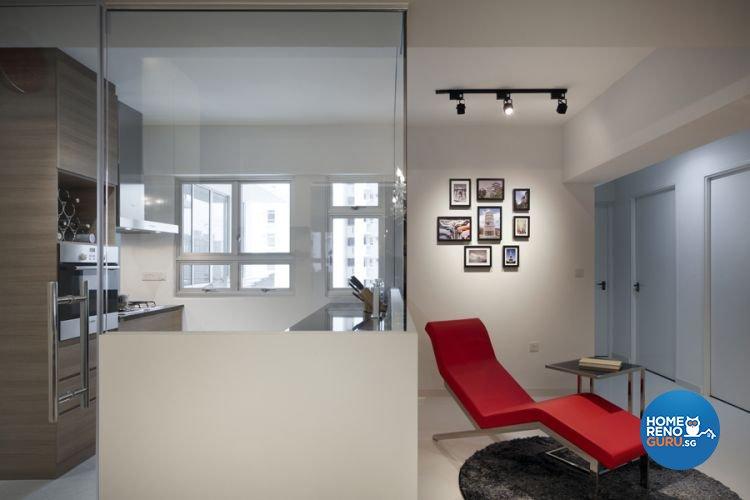 Contemporary Design - Kitchen - HDB 4 Room - Design by De Exclusive Interior Group Pte Ltd