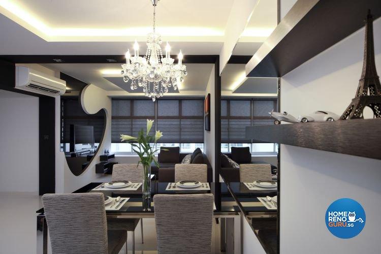 Contemporary Design - Dining Room - HDB 4 Room - Design by De Exclusive Interior Group Pte Ltd