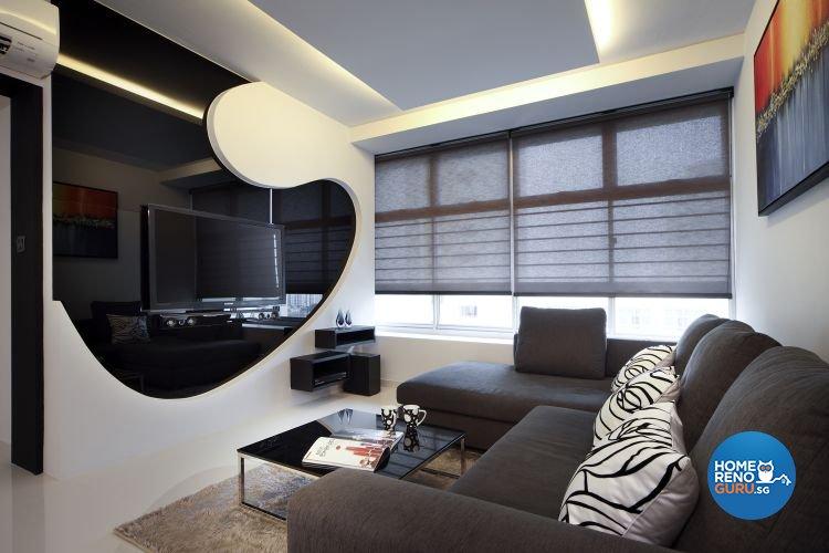 Contemporary Design - Living Room - HDB 4 Room - Design by De Exclusive Interior Group Pte Ltd