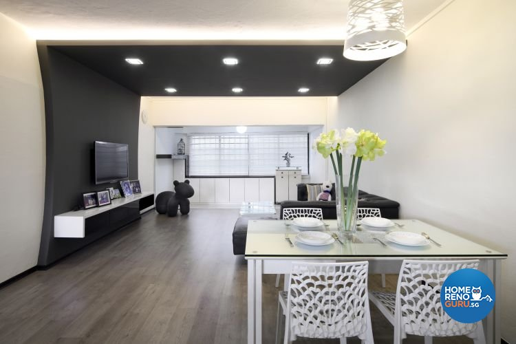 Minimalist, Modern Design - Dining Room - HDB 5 Room - Design by De Exclusive Interior Group Pte Ltd
