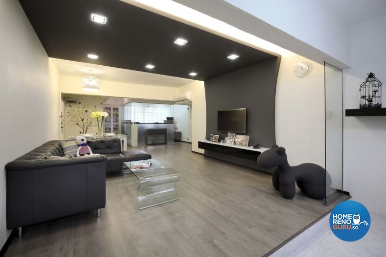 Minimalist, Modern Design - Living Room - HDB 5 Room - Design by De Exclusive Interior Group Pte Ltd