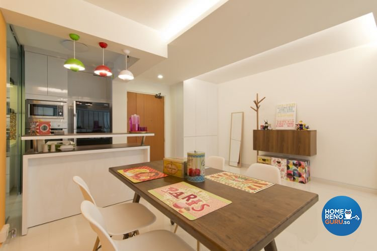 Minimalist, Scandinavian Design - Dining Room - HDB 5 Room - Design by De Exclusive Interior Group Pte Ltd