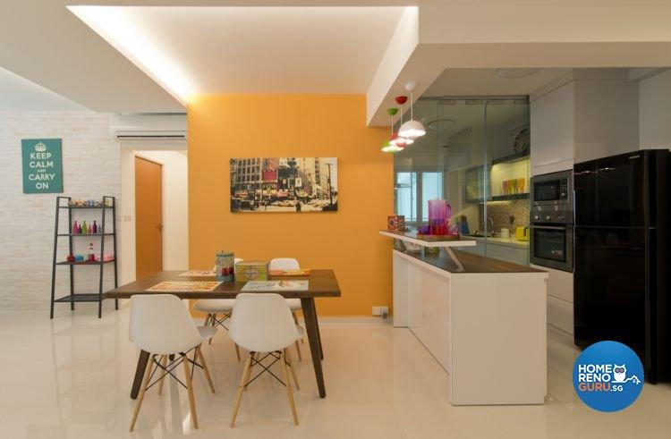 Minimalist, Scandinavian Design - Dining Room - HDB 5 Room - Design by De Exclusive Interior Group Pte Ltd