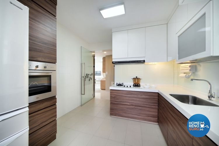 Contemporary, Modern Design - Kitchen - HDB 5 Room - Design by De Exclusive Interior Group Pte Ltd
