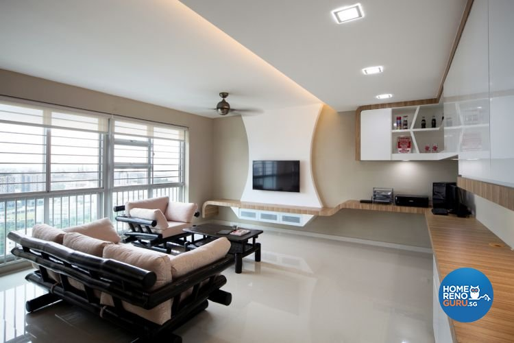 Contemporary, Modern Design - Living Room - HDB 5 Room - Design by De Exclusive Interior Group Pte Ltd