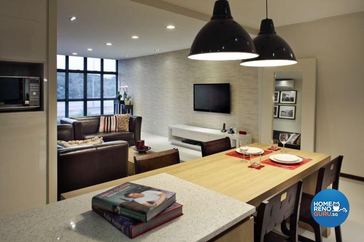 Contemporary, Modern Design - Kitchen - HDB 5 Room - Design by De Exclusive Interior Group Pte Ltd