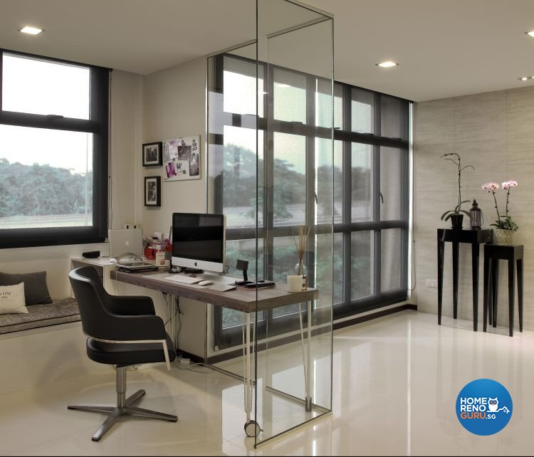 Contemporary, Modern Design - Study Room - HDB 5 Room - Design by De Exclusive Interior Group Pte Ltd