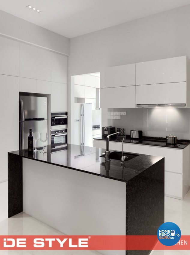 Contemporary Design - Kitchen - Landed House - Design by De Style Interior Pte Ltd