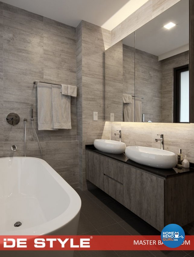 Contemporary Design - Bathroom - Landed House - Design by De Style Interior Pte Ltd