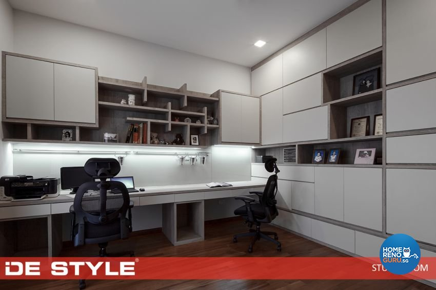 Contemporary Design - Study Room - Landed House - Design by De Style Interior Pte Ltd