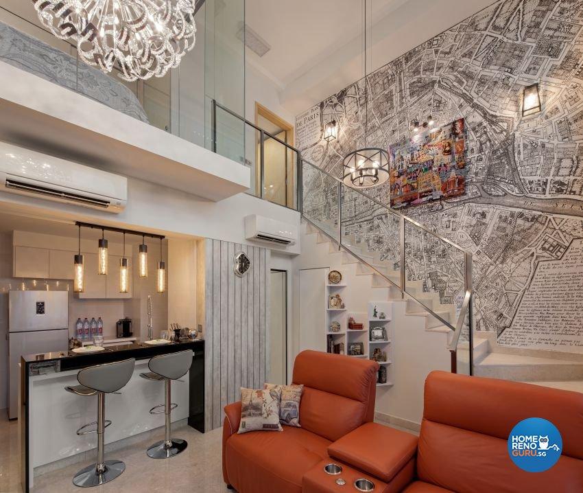 Eclectic Design - Living Room - Condominium - Design by De Style Interior Pte Ltd